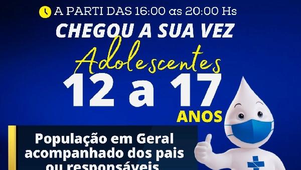 VACINAÇÃO, ADOLECENTES DE 12 A 17 ANOS, CHEGOU A SUA VEZ