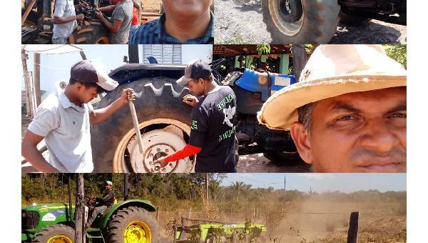 Prefeitura Trabalhando - Preparação do Solo Pequeno Agricultor